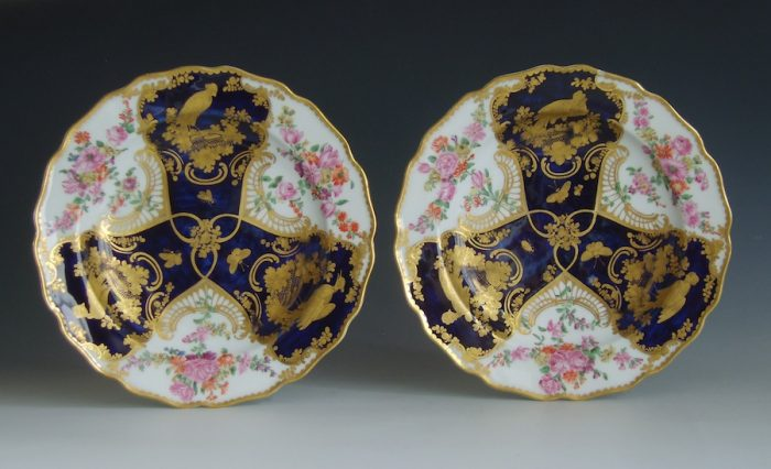 Pair of Chelsea gold anchor plates