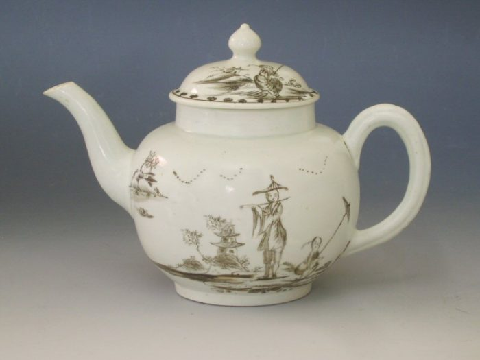 An extremely rare Liverpool, William Reid teapot