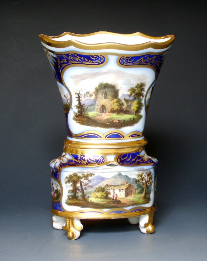 Very rare Liverpool Herculaneum `Dutch Vase`