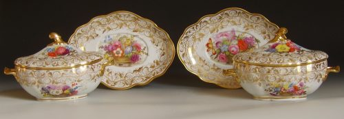 Pair of Liverpool Herculaneum tureens and stands