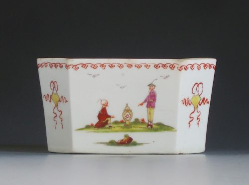 Rare Derby porcelain butter tub