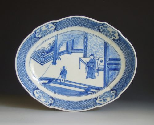 Unusual Derby oval dish