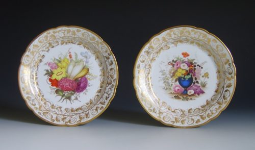 A fine pair of Liverpool Herculaneum plates