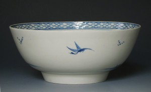 Rare Liverpool Christian`s porcelain punch bowl