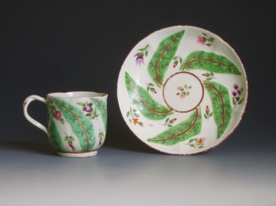 Rare Worcester scolopendrium cup and saucer