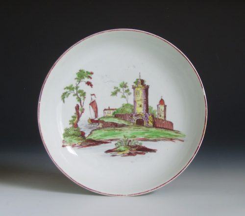 Longton Hall porcelain saucer dish