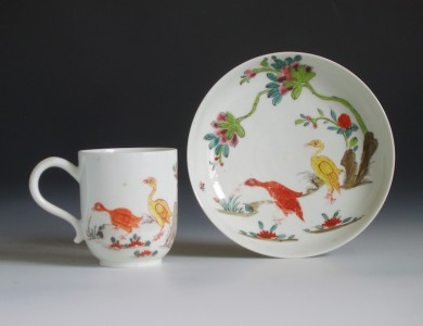 Longton Hall porcelain coffee cup and saucer
