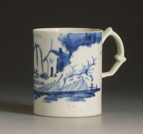 Longton Hall porcelain coffee can