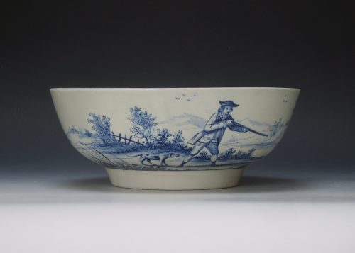 A fine John Pennington Liverpool punch bowl