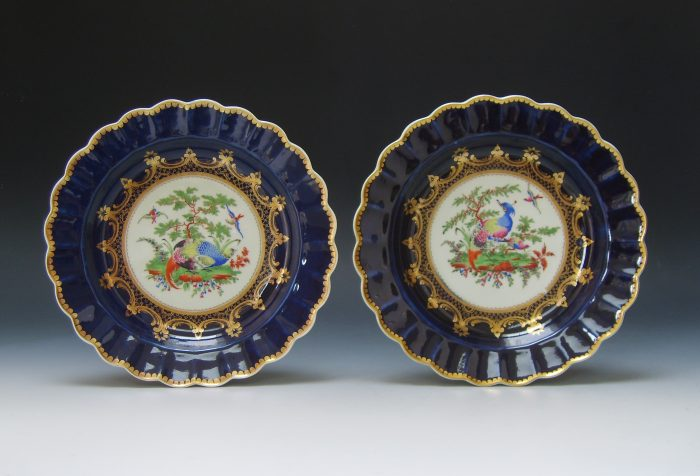 Fine pair of Worcester plates