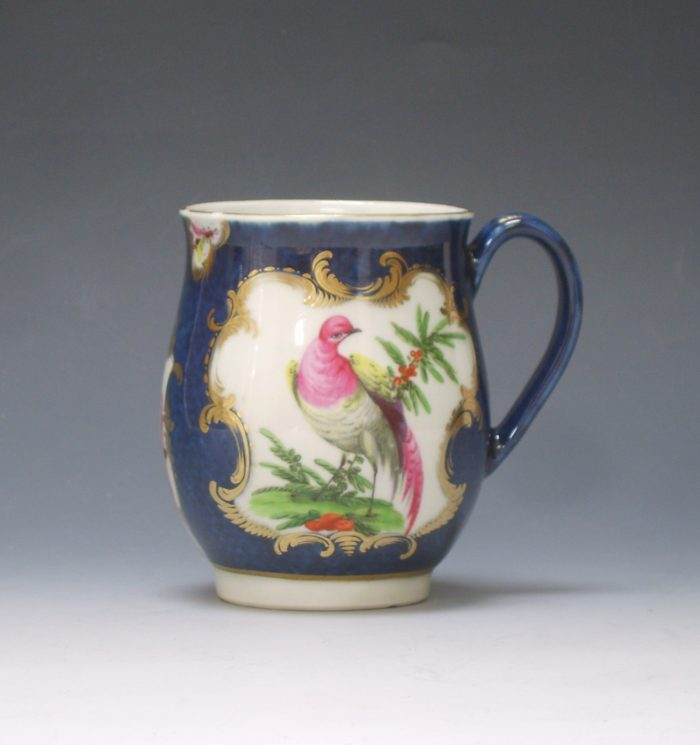 Worcester porcelain bell shaped mug