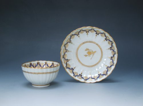 New Hall tea bowl and saucer