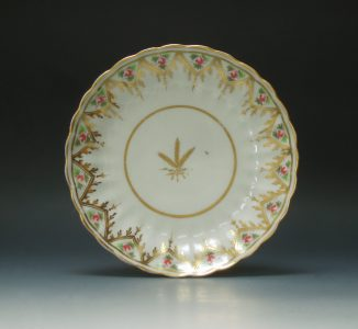 New Hall porcelain saucer dish