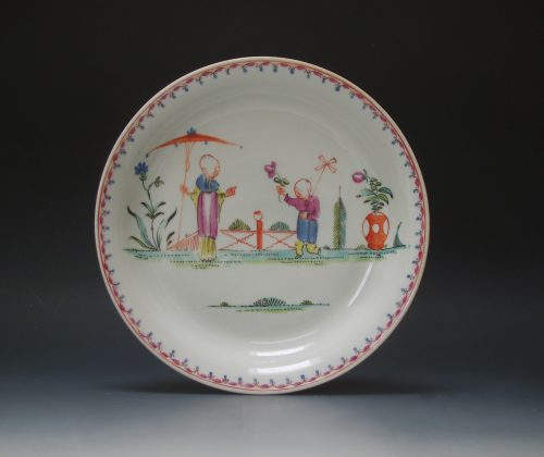 Very rare early New Hall saucer dish