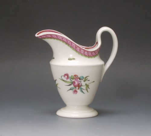 New Hall porcelain obconical cream jug