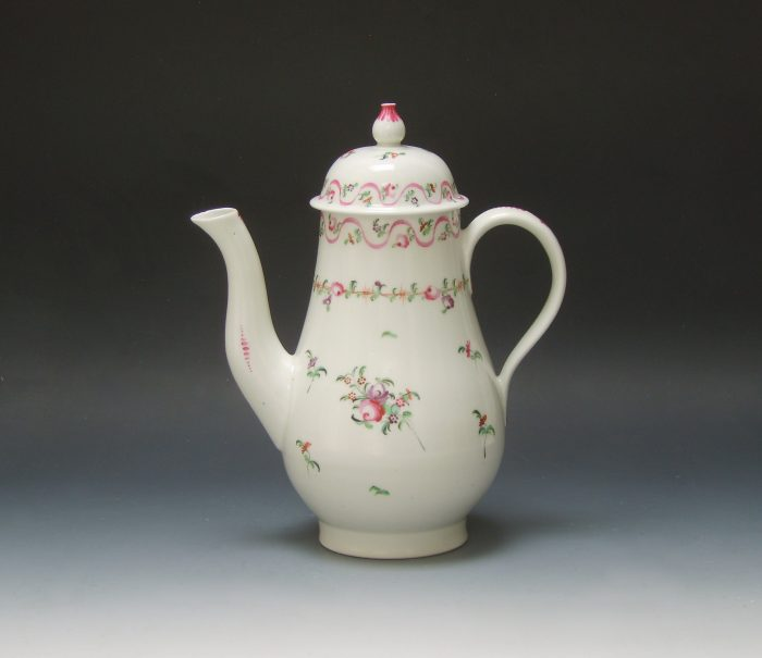 New Hall porcelain coffee pot