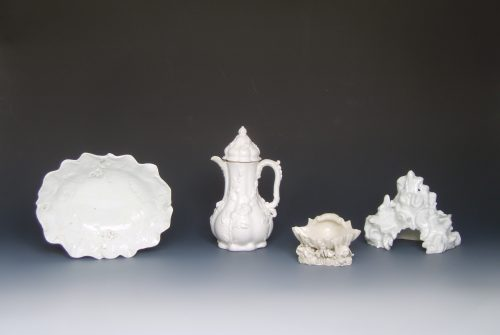 A selection of 18th century white porcelain
