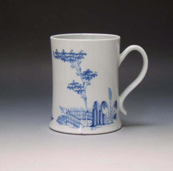 Worcester 'Scratch Cross' tankard