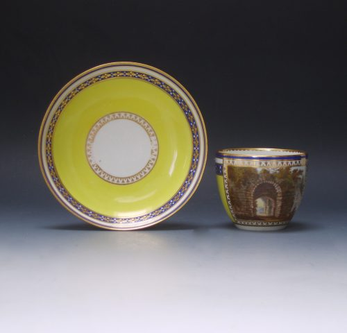 Derby beaker and saucer