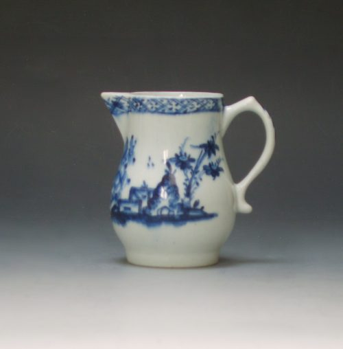 Lowestoft porcelain sparrow beak jug