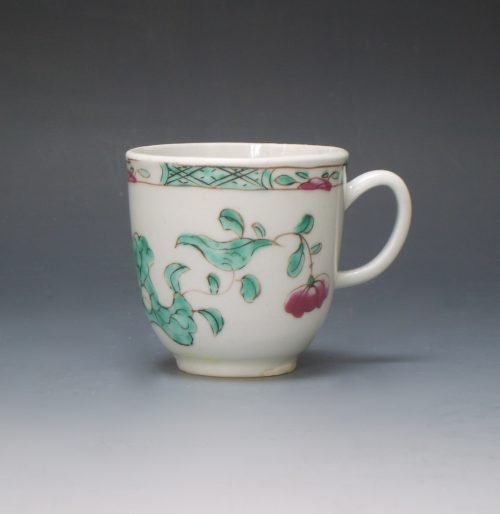 Bow porcelain coffee cup
