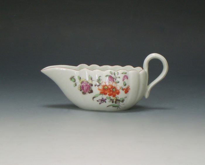 Derby porcelain cream boat