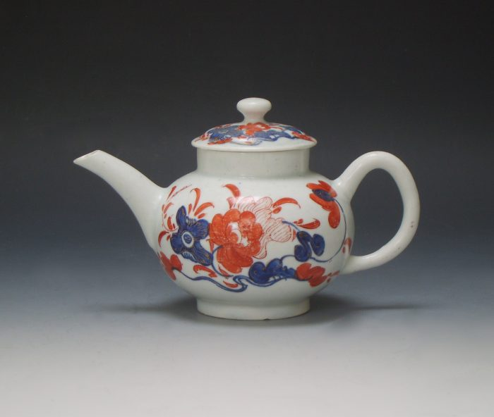Small Bow porcelain teapot
